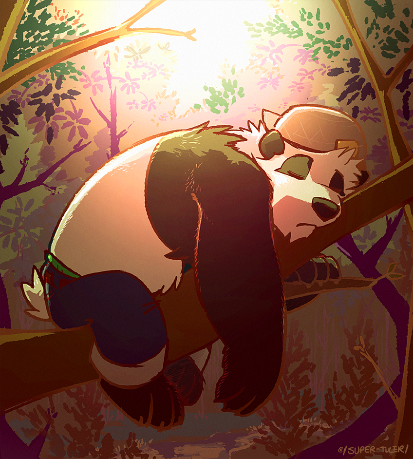 Sleepy Panda by super-tuler
