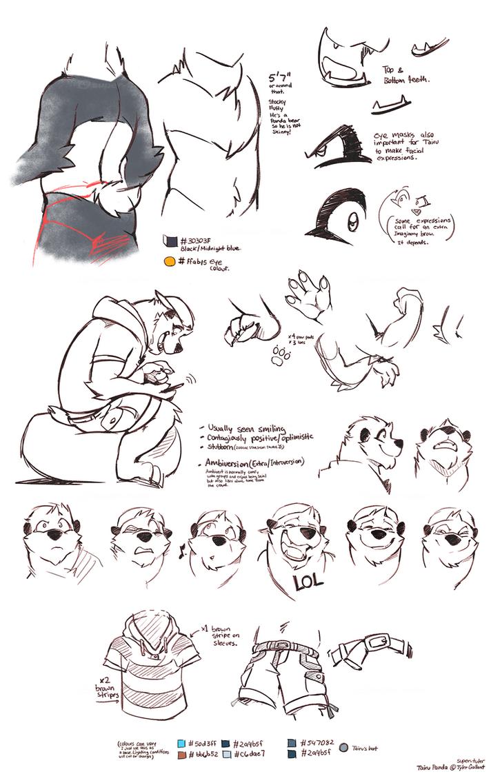 Various degrees of Panda by super-tuler