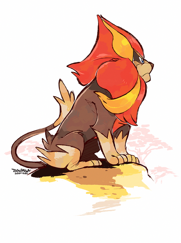 Prideful Pyroar by super-tuler