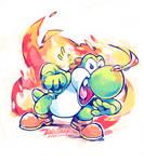 Fire-snot Yoshi