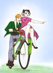 Alphonse y Mei by meiosis2
