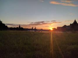 Sonnenuntergang an der Elbe by DrAzraelTod