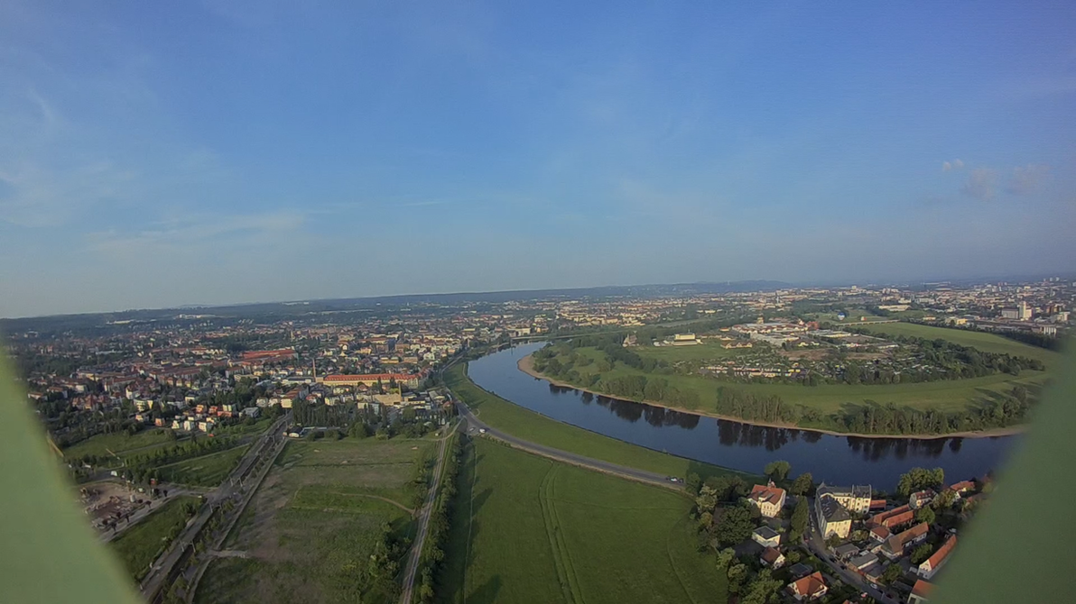 Dresden from Above in the Evening by DrAzraelTod
