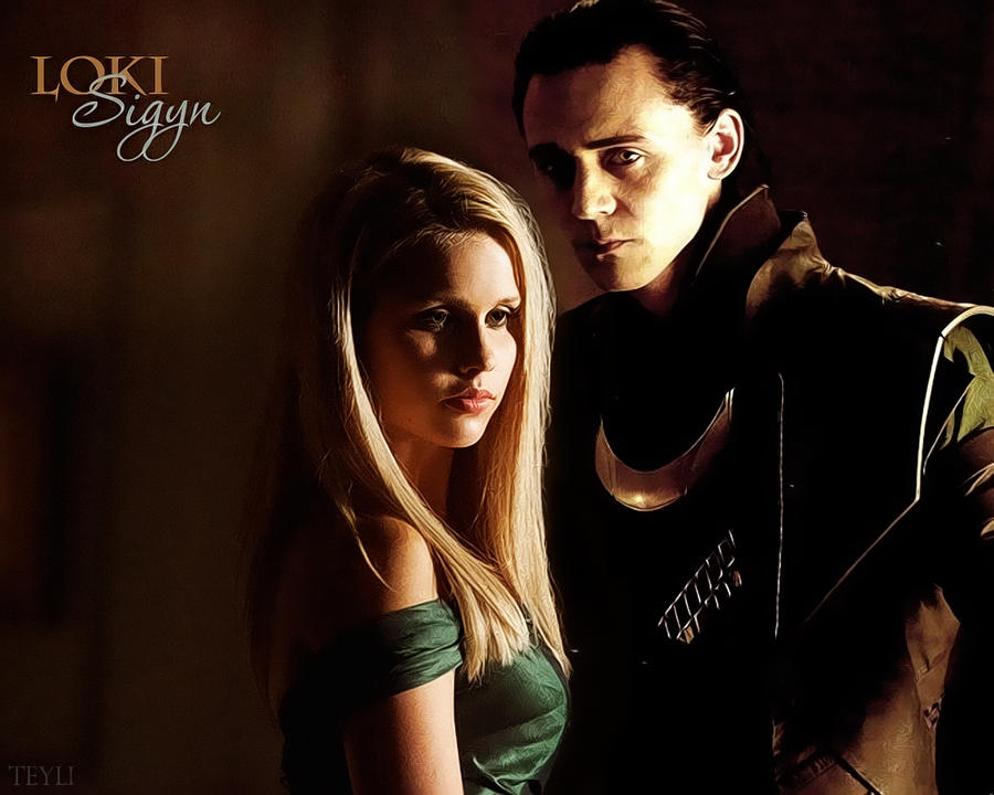Loki and Sigyn [2] by Herm-Mudblood