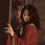 Loki and Natasha by Herm-Mudblood