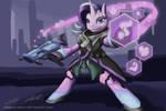 Sombra Glimmer ( MLP x Overwatch fanart )