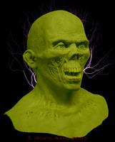 Risen Zombie mask sculpture. by dreggs88