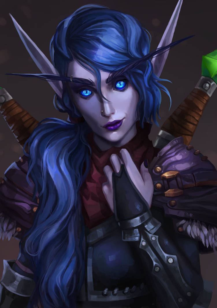 #V Commission: Void Elf by Pixennon