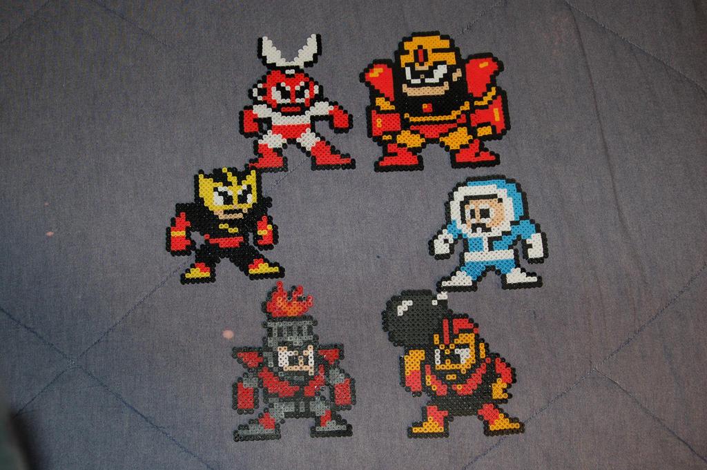 Megaman Robot Masters Perler by evilpika