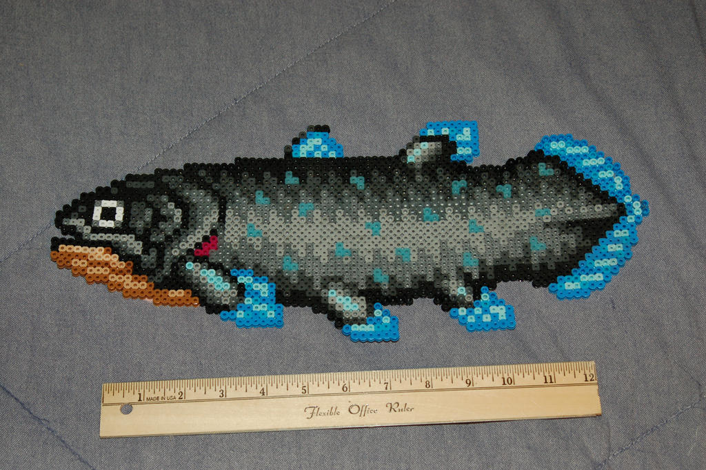 Coelacanth perler by evilpika on deviantart for Koi fish beads
