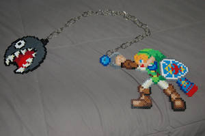 Link and Chain Chomp by evilpika