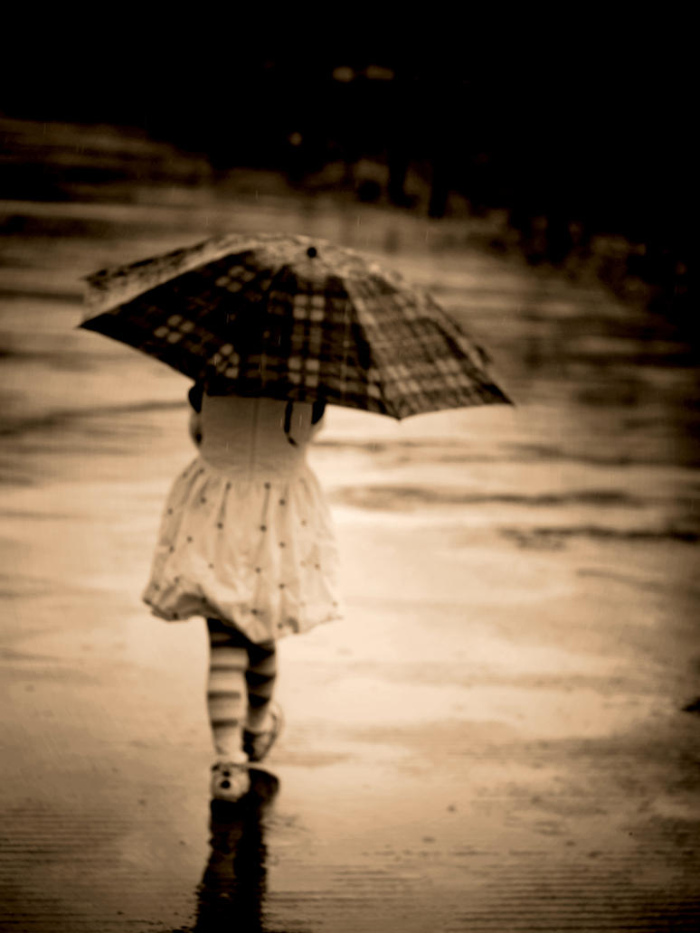 girl in the rain by pickerel