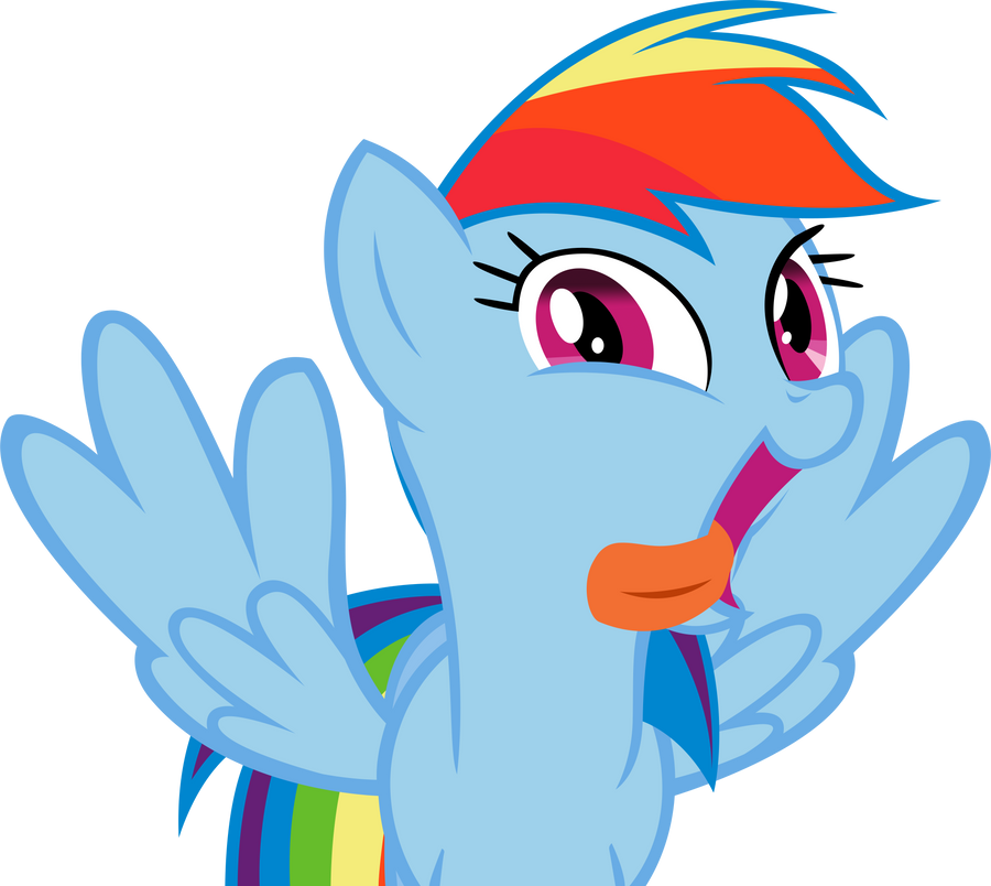 Rainbow Dash :P by miketueur
