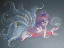 Fan Art Ahri League of Legends by llamm