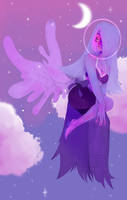 Kornerupine Amethyst + Lapis Fusion by WhispersWillow