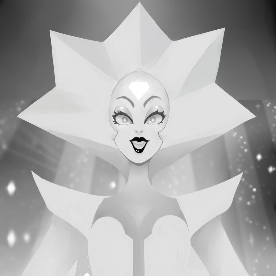 hyped for white diamond! Speedpaint here: youtu.be/Ugwok8EVsA8