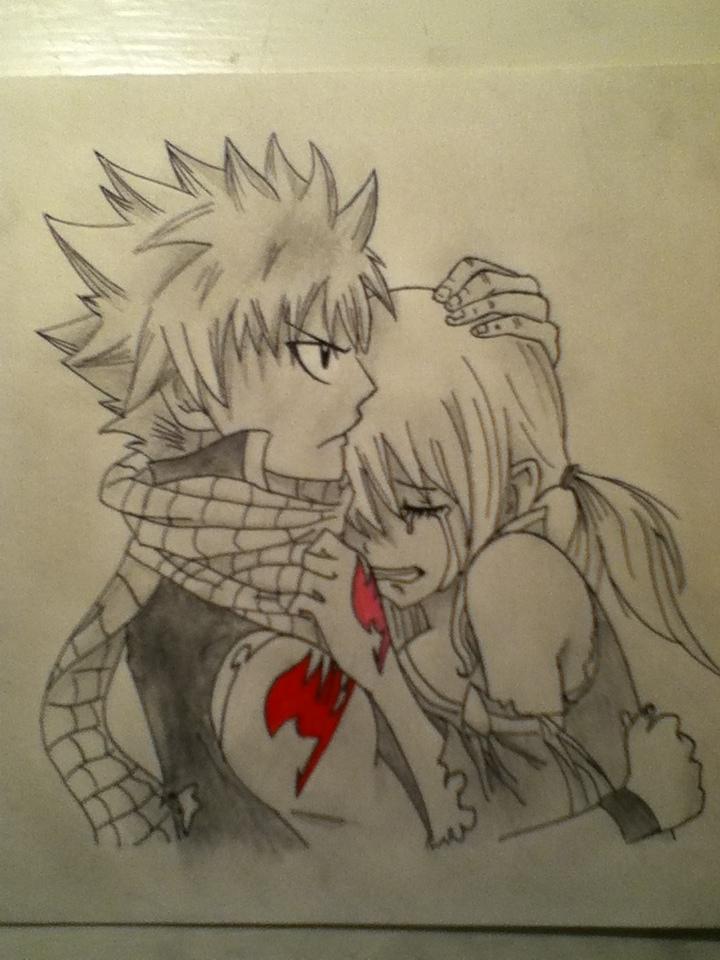 natsu and lucy hug by nomnomnomrawr95 on deviantART