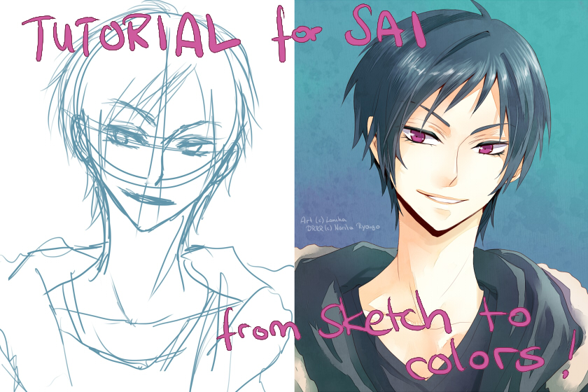 tutorial sai sketch to colors by lancha on deviantart coloring on surface coloring on ipad