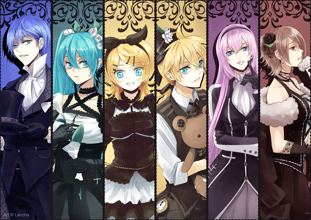 VOCALOID fanart set - Schwarz by Lancha