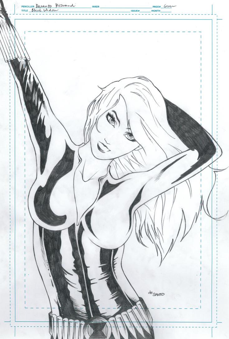 Black Widow Pencil Art by de-SANTO