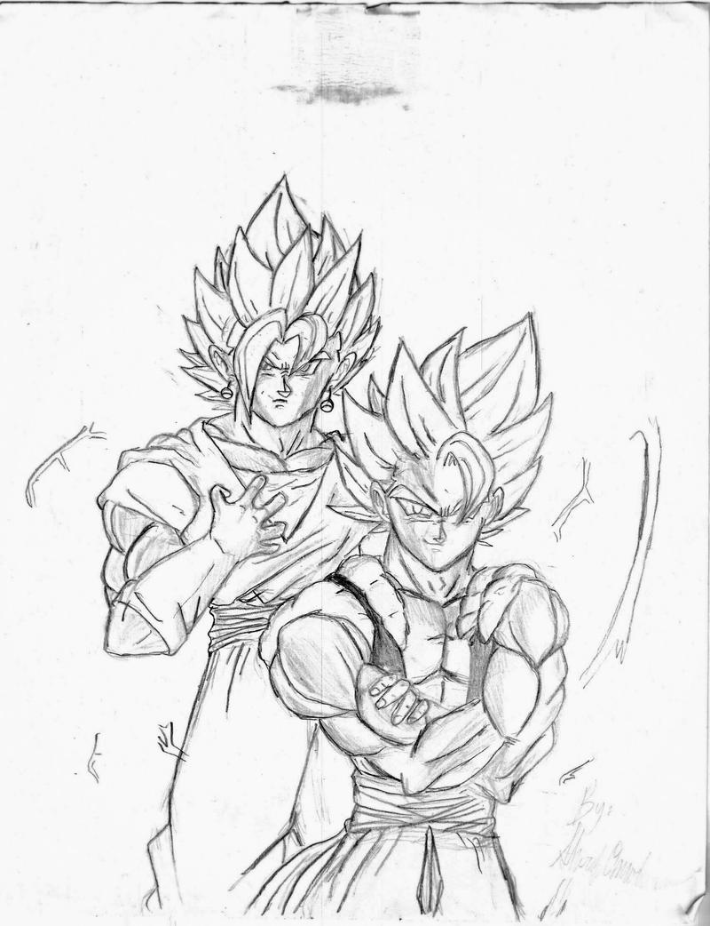 gogeta and vegito by sherif1zro on deviantart