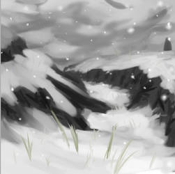 Snow Fall ( speed drawing 1 )