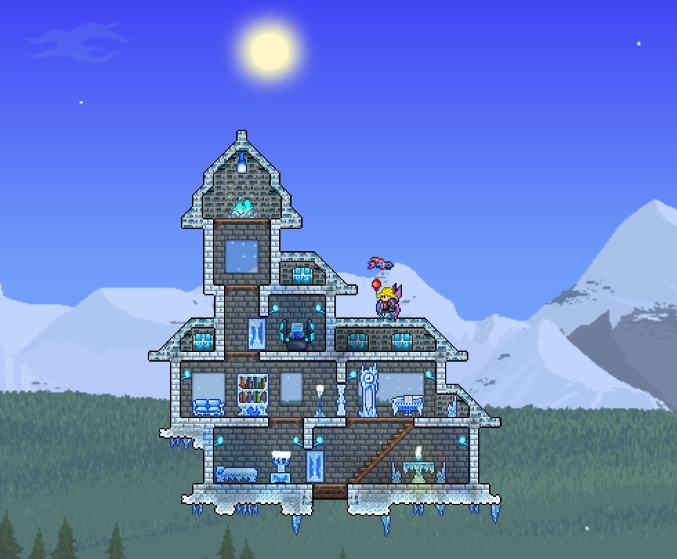 Related keywords suggestions terraria tree house designs for Terraria house designs