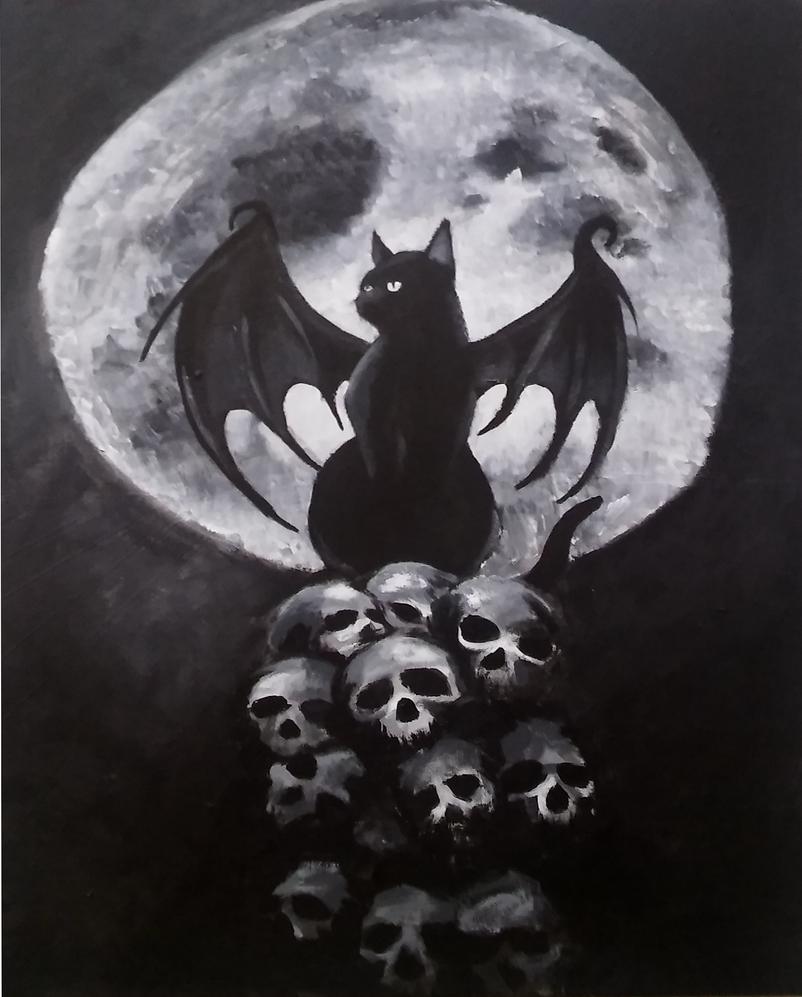 Moon batcat by Brysiaa