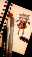Halloween BatChibi by Brysiaa