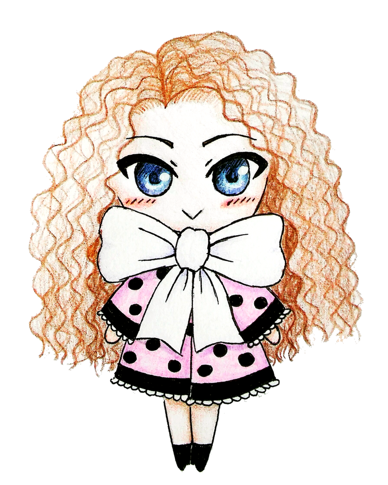 Curly Haired Chibi Girl By Brysiaa On Deviantart