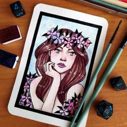 Postcard No. 7 - Flower Queen