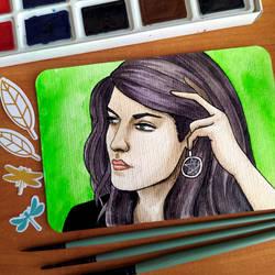 Postcard No. 8 - Sap green
