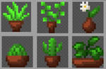 Pixel art - Potted plants (16x16 px) by Brysiaa