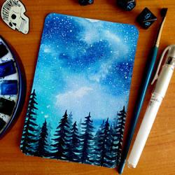 Postcard No. 12 - Night sky