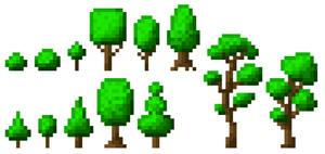 Pixel Trees [32x16px]