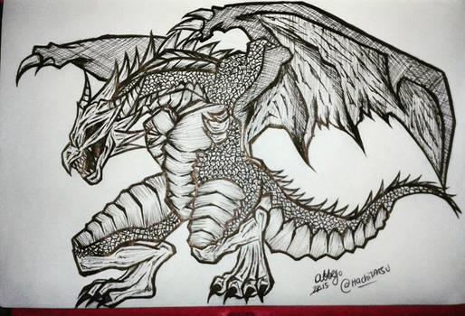 Inktober 2015/Drawlloween 2015 DAY31: Dragon