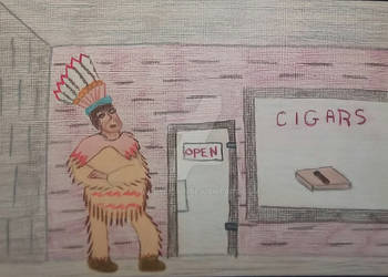 VV #378 Honoring The Cigar Store Indian by handylight