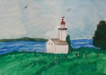 Old Pugwash Light Of Nova Scotia by handylight