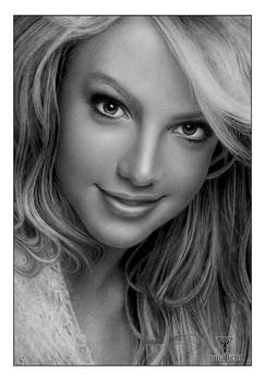 Pencil Drawing of Britney Spears