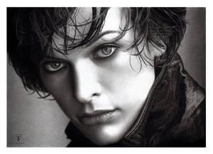 Art Drawing of Milla Jovovich