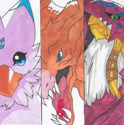 Digimon - Biyomon Digivolution by Singingartist1234