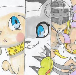 Digimon - Salamon Digivolution by Singingartist1234