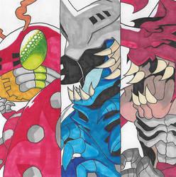 Digimon - Tentomon Digivolution by Singingartist1234