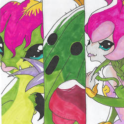 Digimon - Palmon Digivolution by Singingartist1234