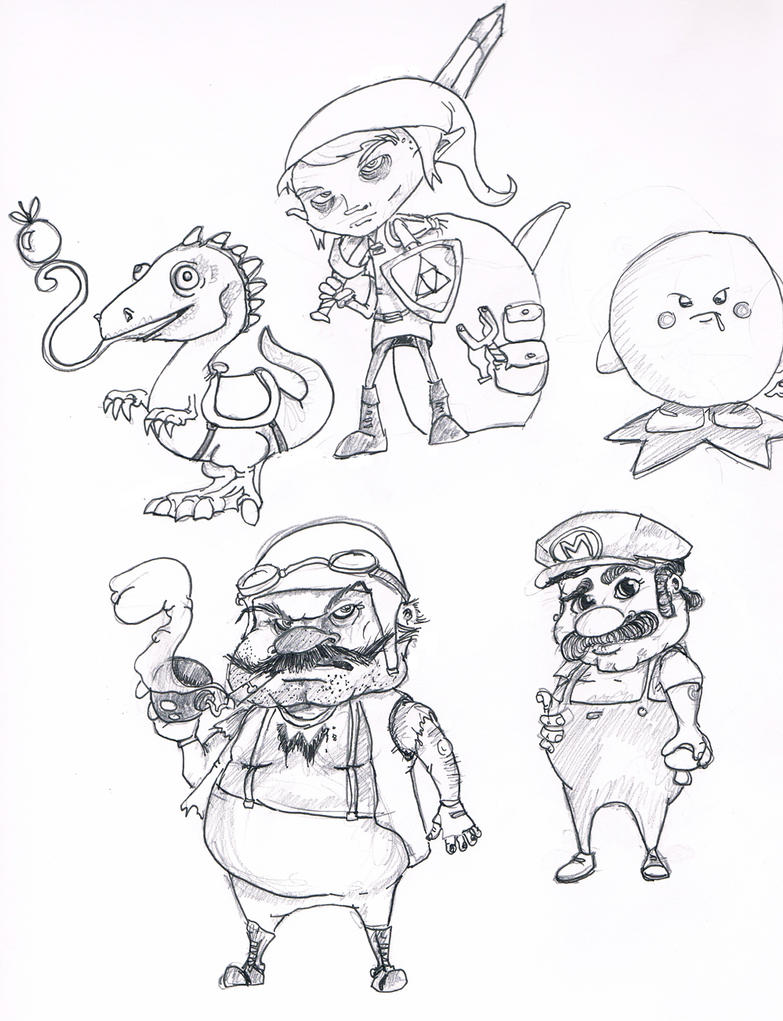 coloring pages nintendo characters - photo#41