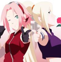 Ino and Sakura by StikyfinkaZ-003