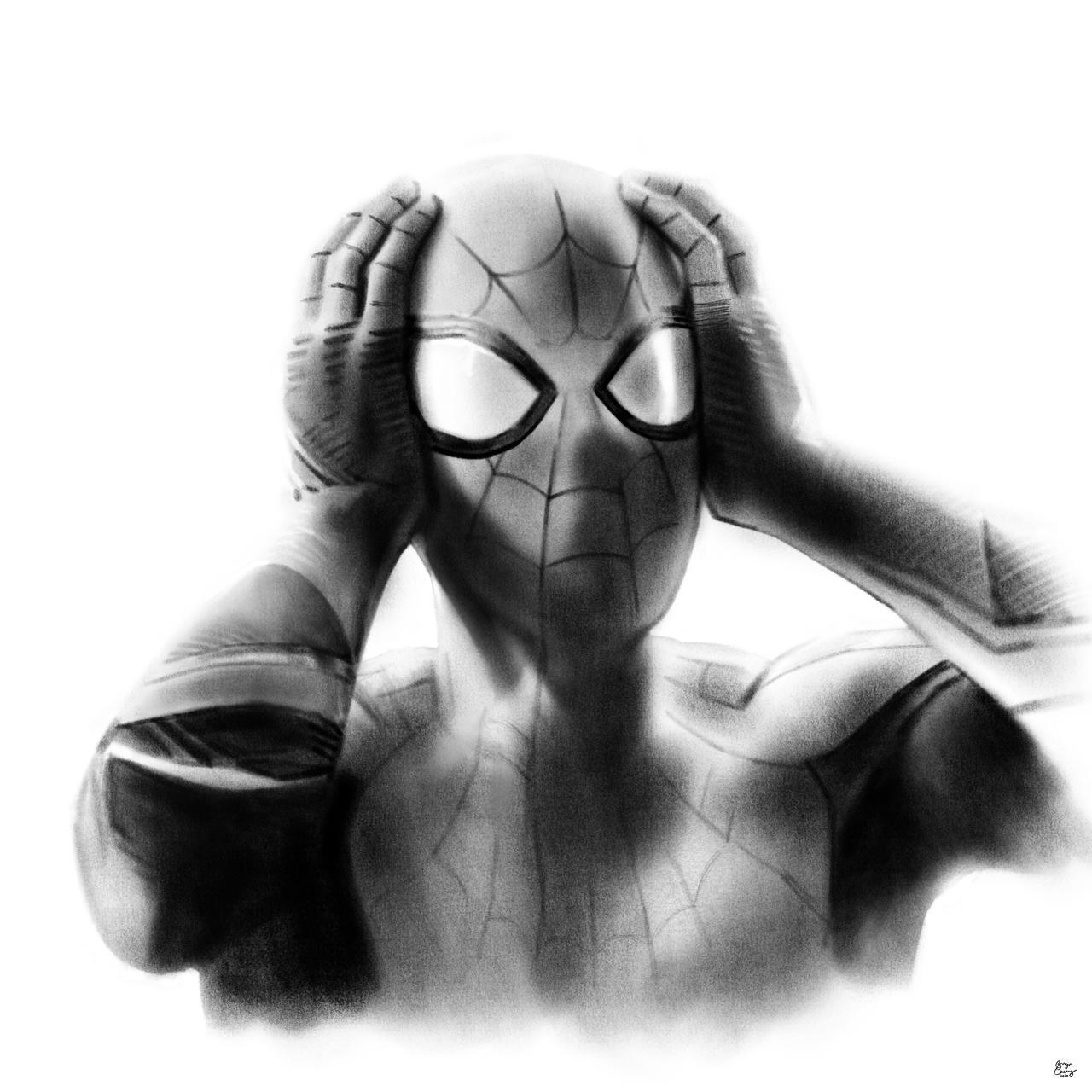 Superhero Portrait Drawing 2