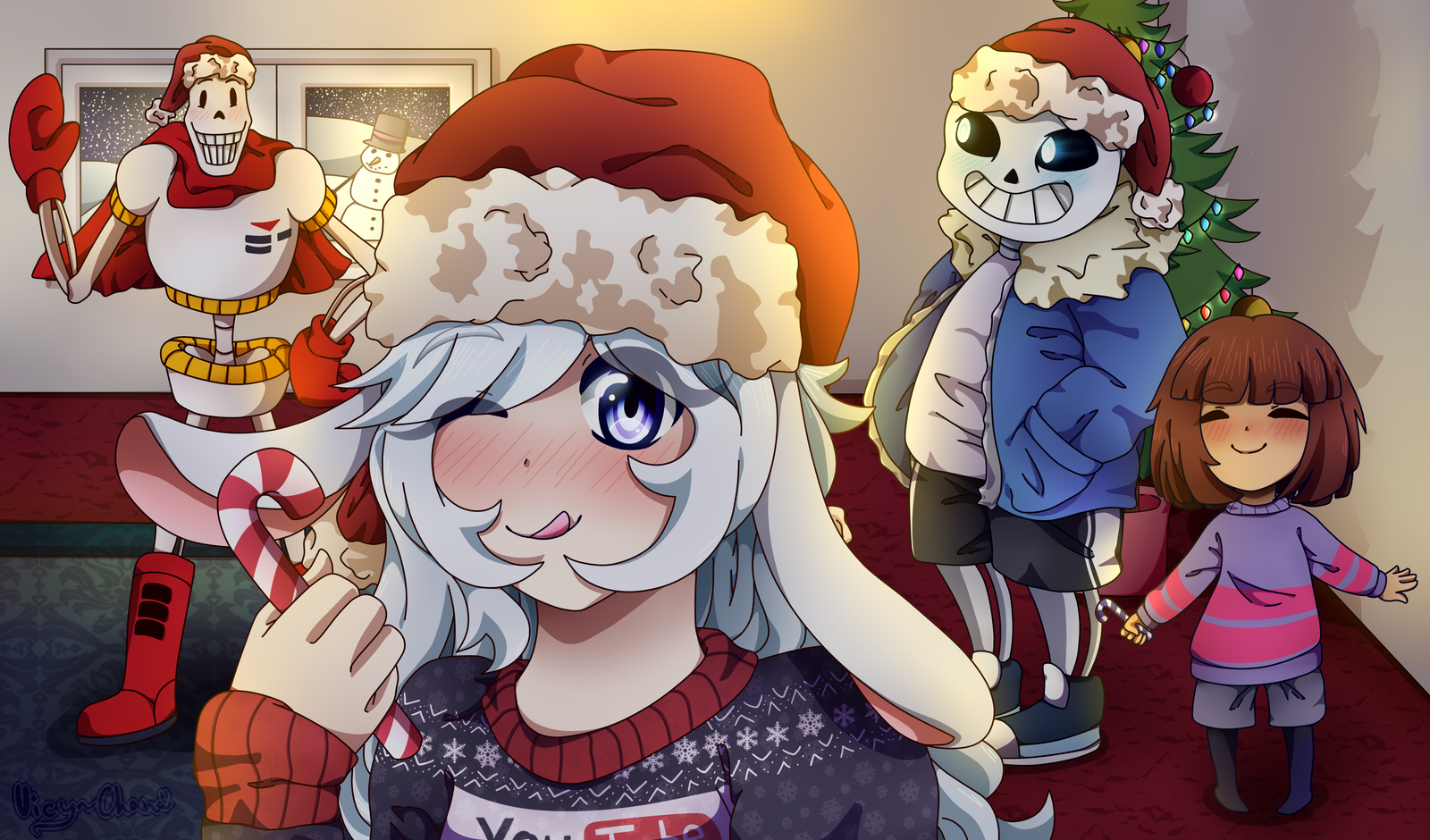 Christmas Party with Nessi ft. Undertale by VicyParker on DeviantArt
