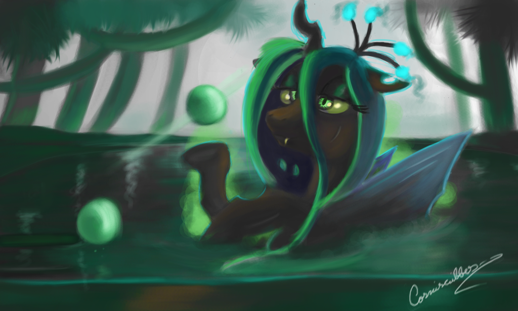Chrysalis In Water by Cosmicscribbles