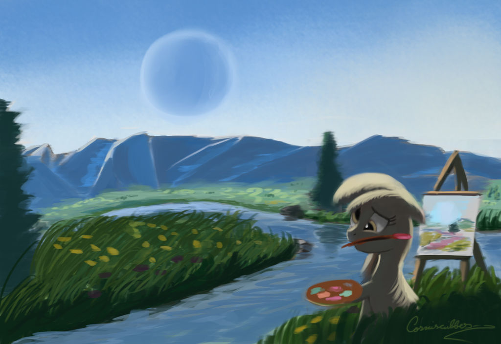 Painting with derpy Hooves